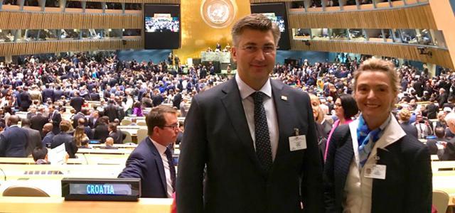 S potpredsjednicom Vlade Marijom Pejčinović Burić na 72. zasjedanju Opće skupštine UN-a
