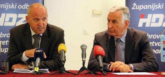 Branko Bačić (lijevo): Jednoglasna potpora kandidaturi Nikole Dobroslavića (desno) za novi mandat!