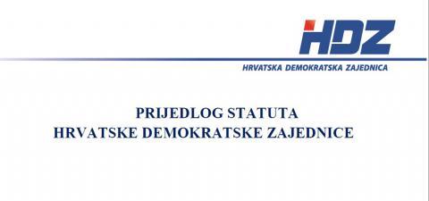 Prijedlog Statuta Hrvatske demokratske zajednice (Integralni tekst)