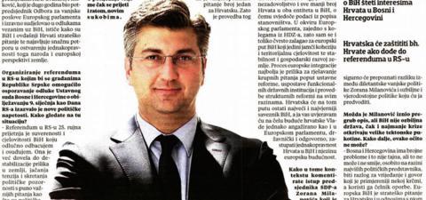BiH treba ustavnu reformu na načelima federalizma, decentralizacije i pune ravnopravnosti sva tri naroda